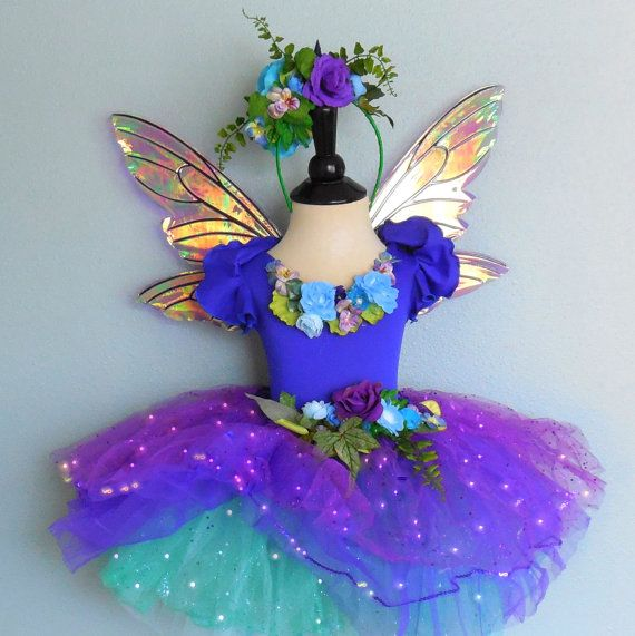 Sparkle, Sparkle and more Sparkle! An enchanting little toddler sized faerie costume that comes with two different skirts and spectacular