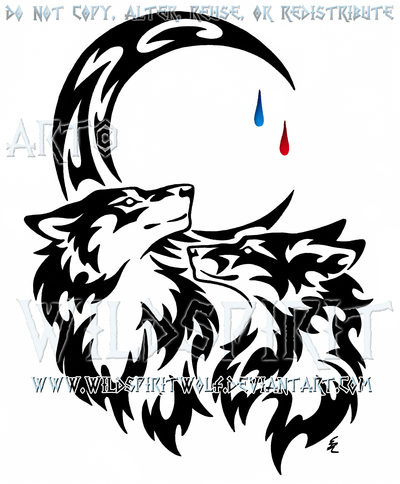 Wolf And Moon Drawing at GetDrawings | Free download