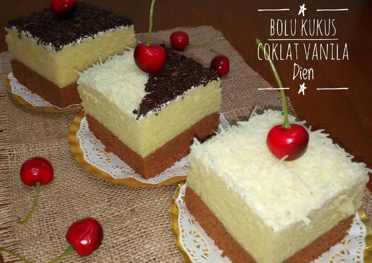 Bolu Kukus Coklat Vanilla   Recipe   SusanVV   Cake ...