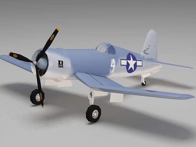 WW2 F4U-1 Corsair fighter aircraft 3d model   3d models