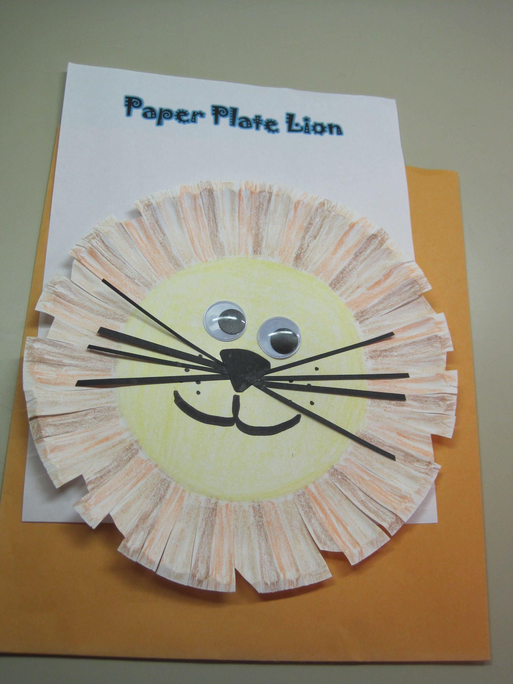 Paper Plate Lion Cslp Children S Manual P 218 Craft