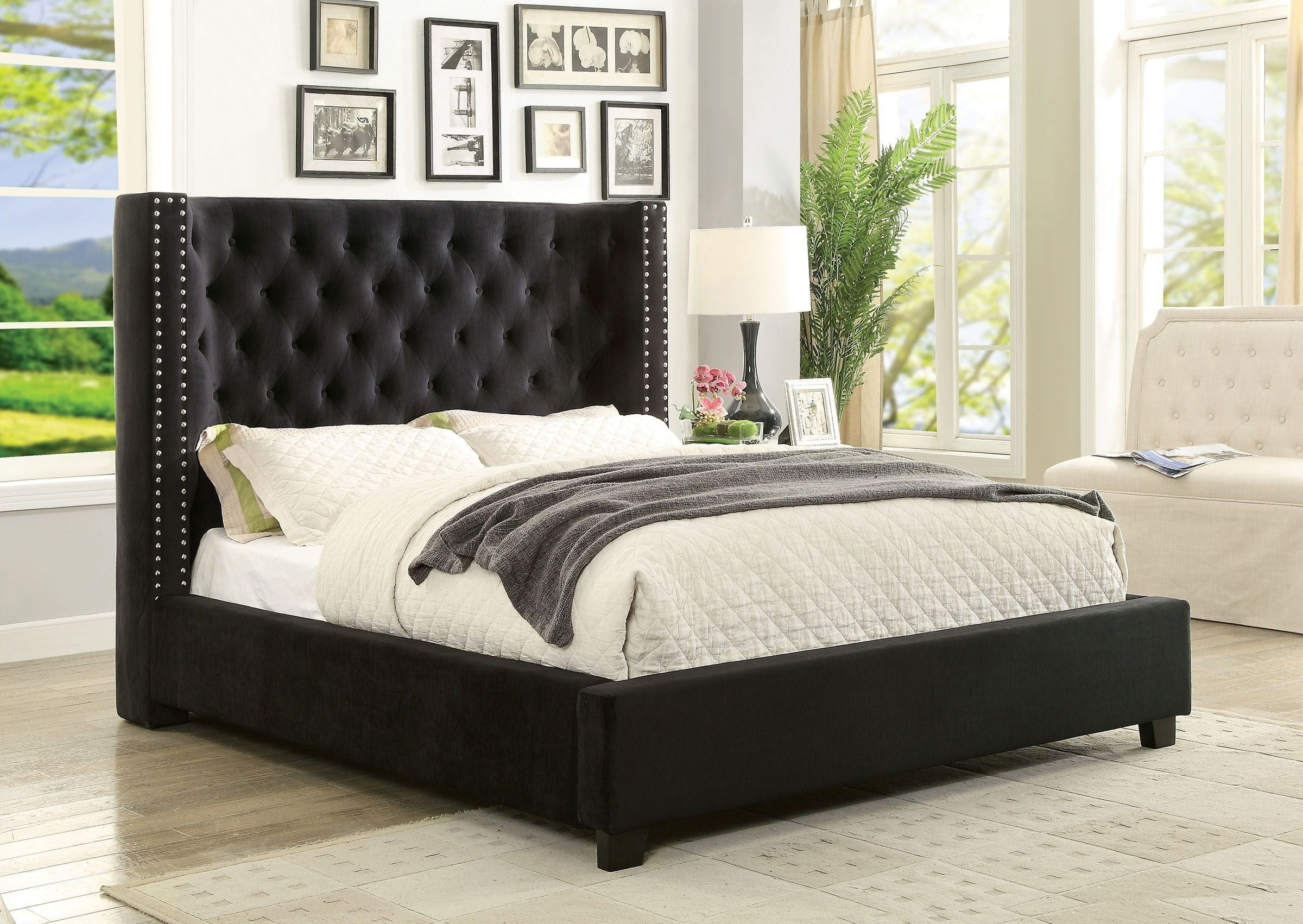 Essential Things To Know About California King Platform Bed Furniture Upholstered Beds Black Bedding