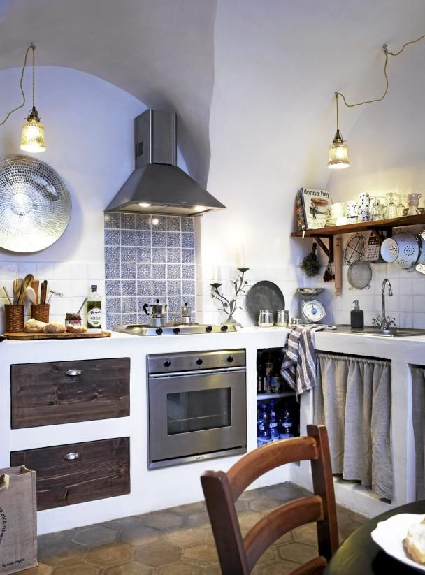 reforma cocina rústica con muebles de obra, frente cocina de