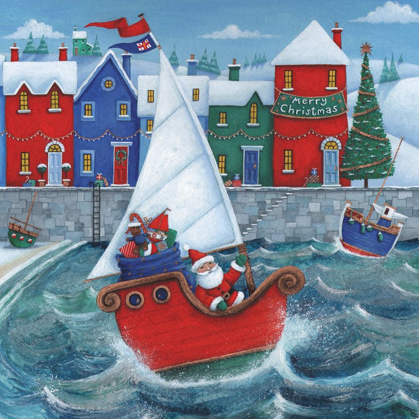 Christmas Harbour Bilingual Welsh/English Pack of 10