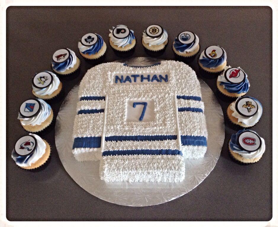 Hockey Jersey Cake Cakepins Com Hockey Cakes Hockey Birthday