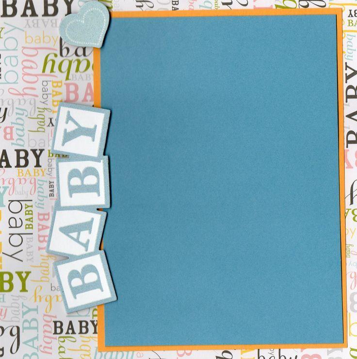Premade Scrapbook Pages BATHTIME EZ Layout 2484