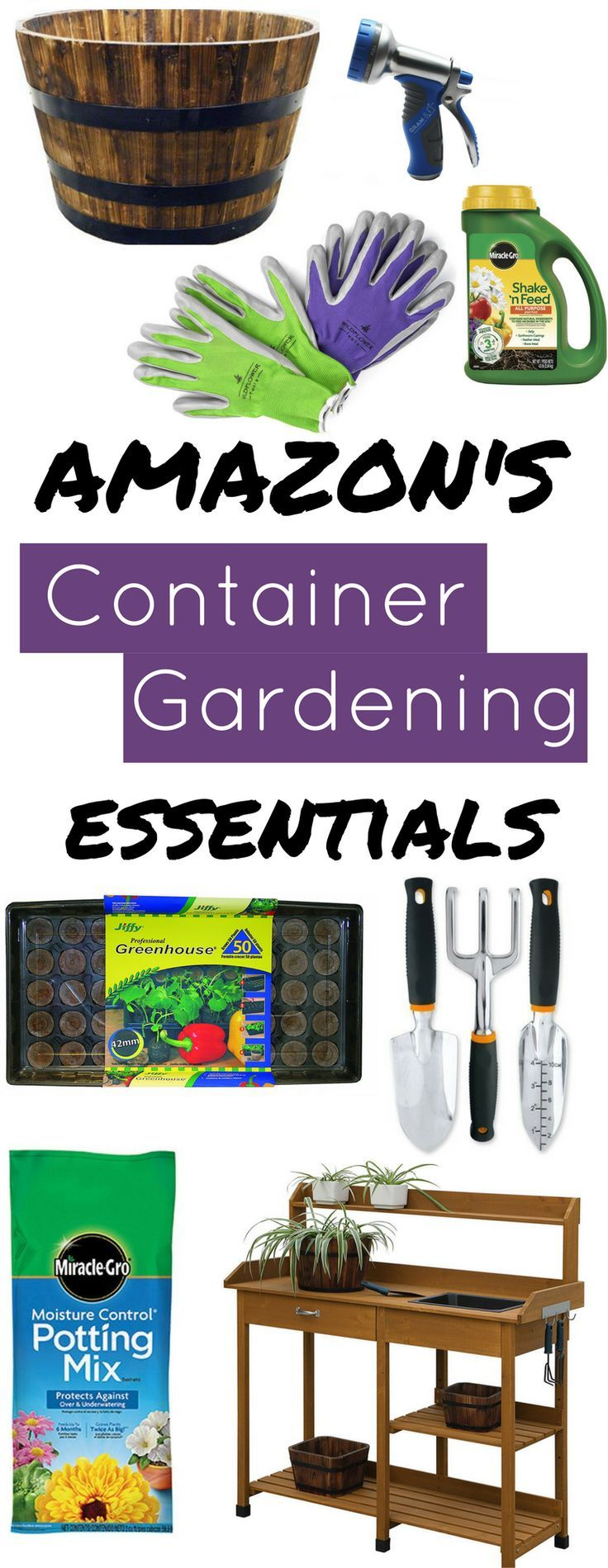 Container Gardening Essentials On Amazon Small Garden Essentials Container Gardening Garden Essentials