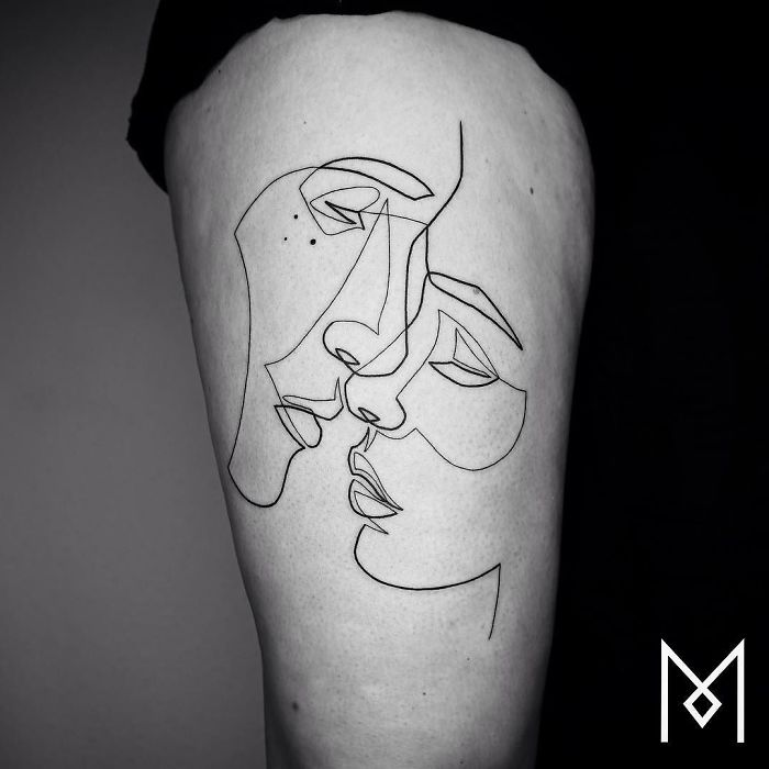 100 Incredible Tattoos Created Using A Single Continuous Line By Mo Ganji