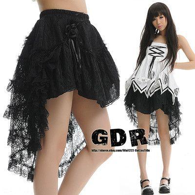 Punk Dolly Gothic Kera Lolita Nana Layer 61239 Skirt M Black   eBay