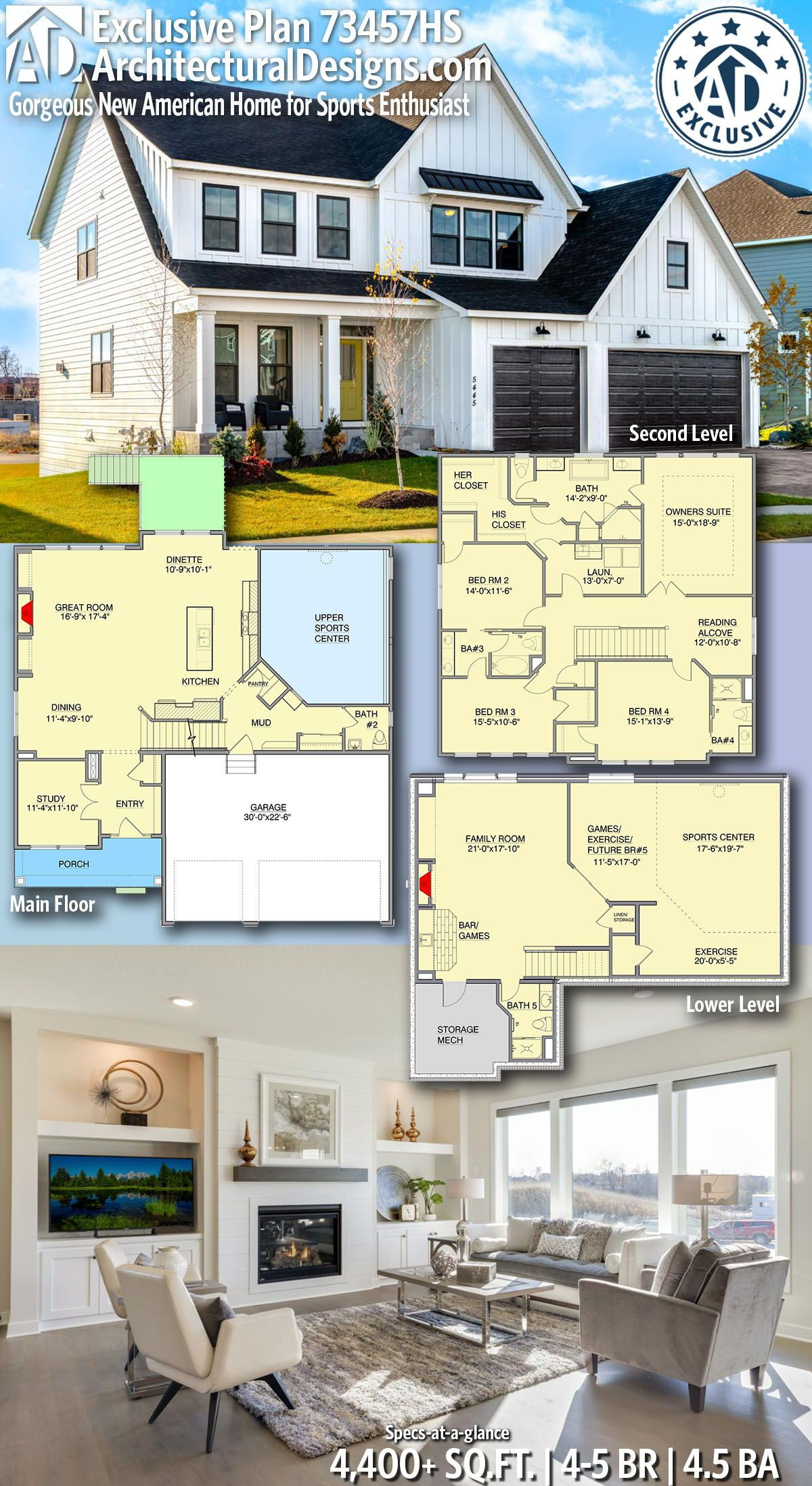 No Sports Center Master On Ground Level House Plans New House Plans House Floor Design