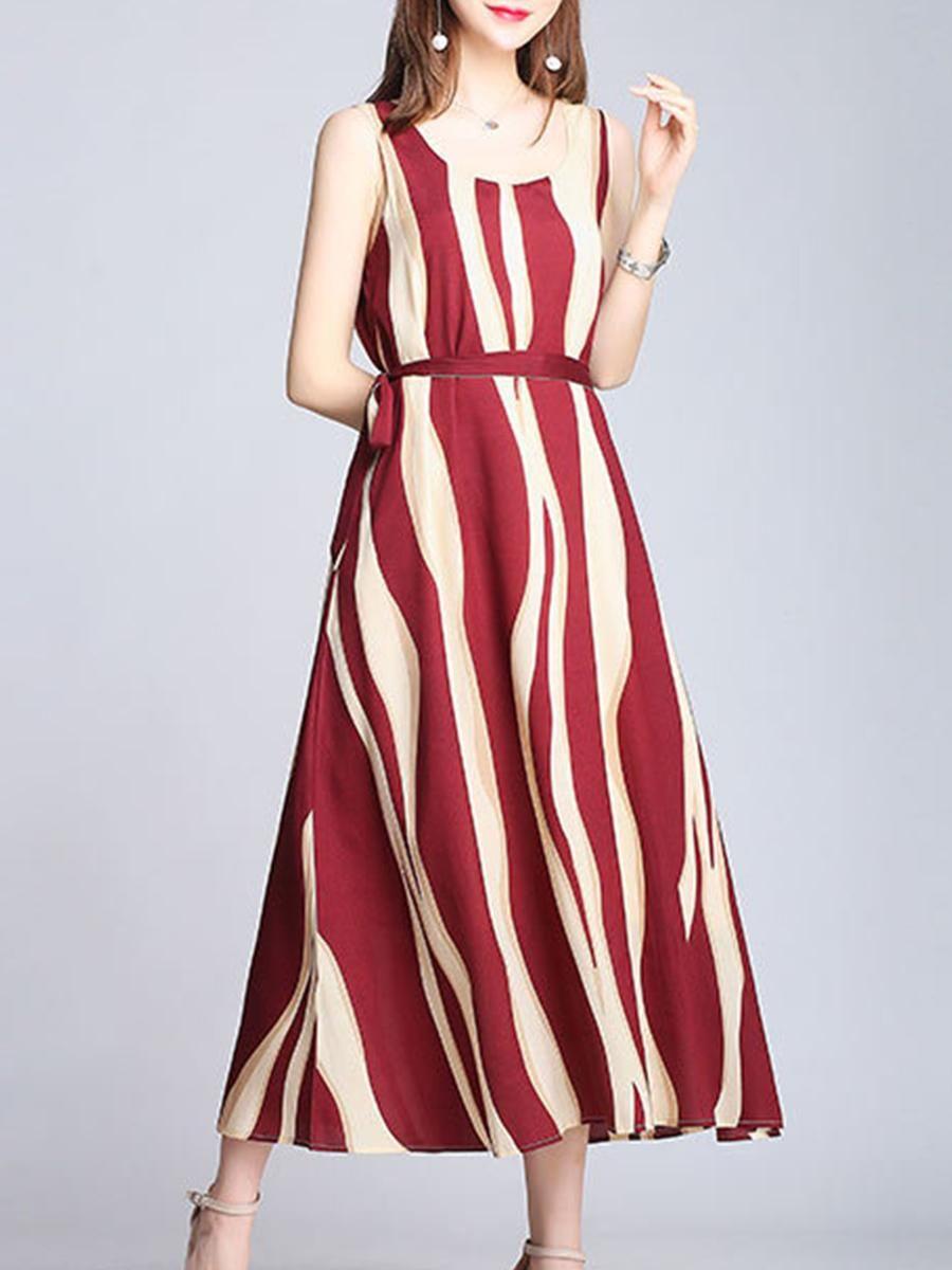 5e0aa6c6f0 #EnvyWe #BerryLook - #berrylook Round Neck Color Block Maxi Dress - EnvyWe .com