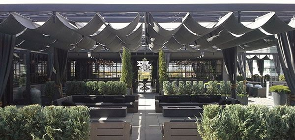 Restoration Hardware Rooftop Garden In Cherry Creek Using Sunbrella Outdoor  Upholstery Fabric, Furniture, And