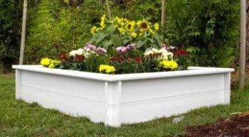 4x4 2 Rail White Color Raised Bed Garden Kit By Orcaboard 163 25
