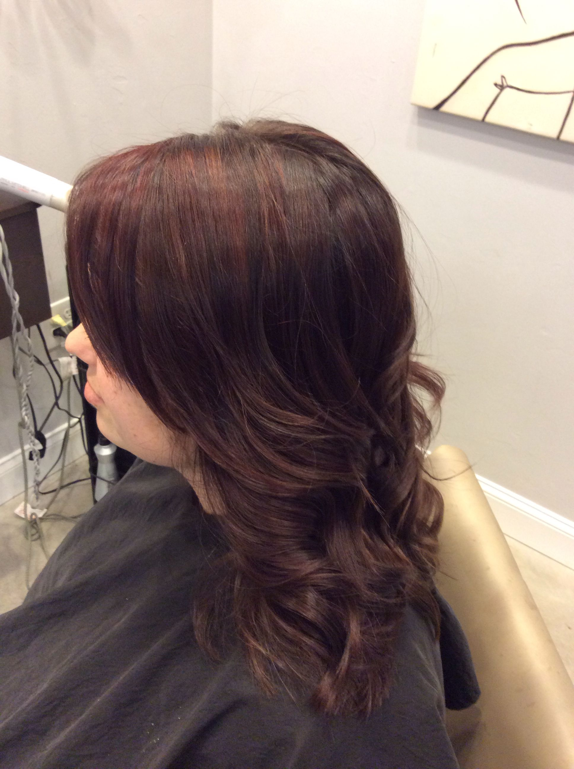 Peek A Boo Red With Chocolate Syrup Pm Shines Paul Mitchell Color