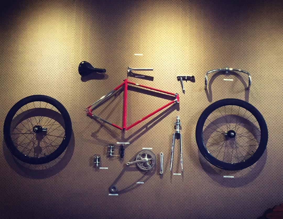 Anatomy Of A Fixed Gear on the wall #wheeleryard #fixie #fixedgear ...