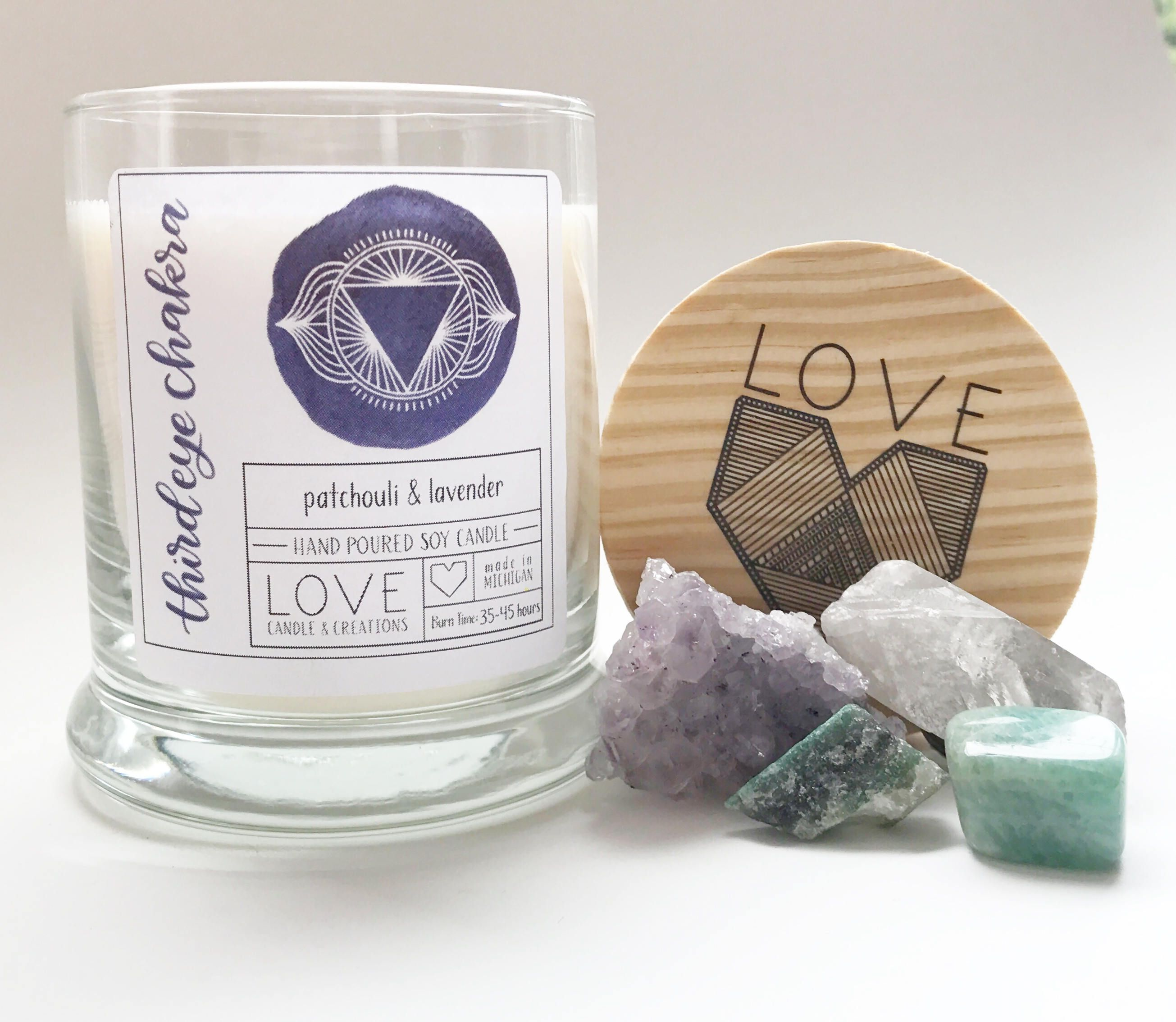 Third Eye Chakra-Mediation Candle-Yoga Candle-Wisdom-Healing-Cleansing-Soy Candle