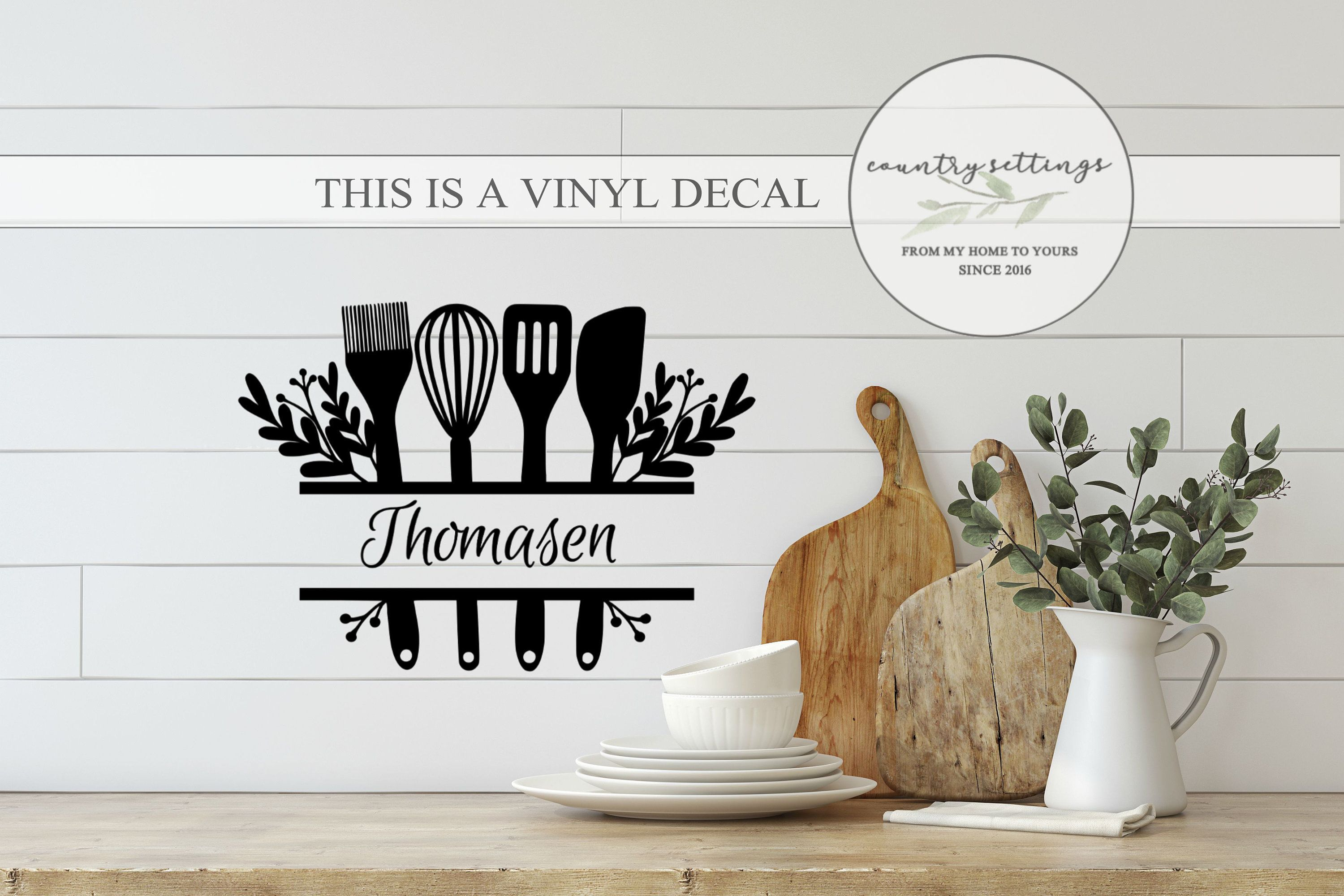 Kitchen Vinyl Decal Custom Kitchen Decal Farmhouse Custom
