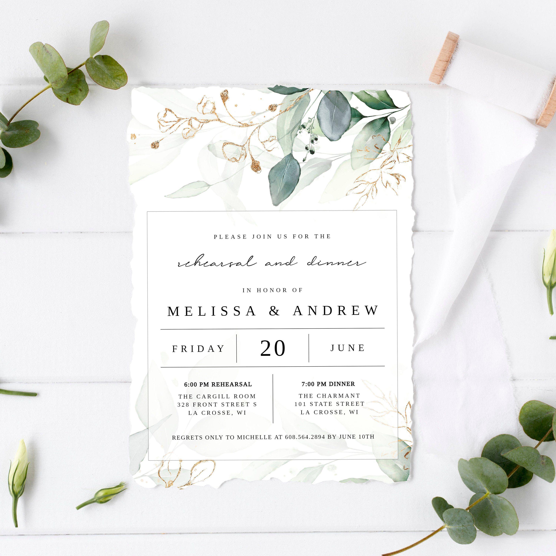 - PRINTABLE Rehearsal Dinner Invitation Watercolor Floral Invitations Rehearsal Invtitations Digital File Wedding Rehearsal Invite