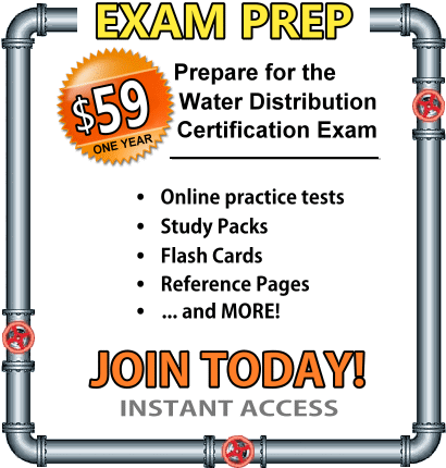 Prepare For The Water Distribution Operator Exam With Practice Tests Math Tutorials And Study Guides Water Treatment Math Tutorials Treatment