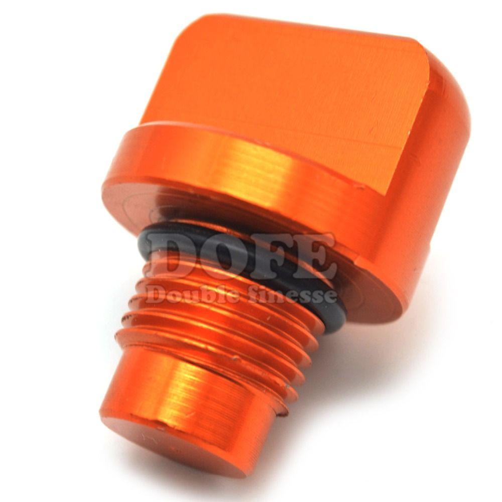 Motorcycle Accessories Cnc Orange Aluminum Engine Magnetic Oil Drain Plug For Ktm Duke 125 200 390 Oil Cap Dipstick Screw F Motorcycle Accessories Ktm Duke Ktm