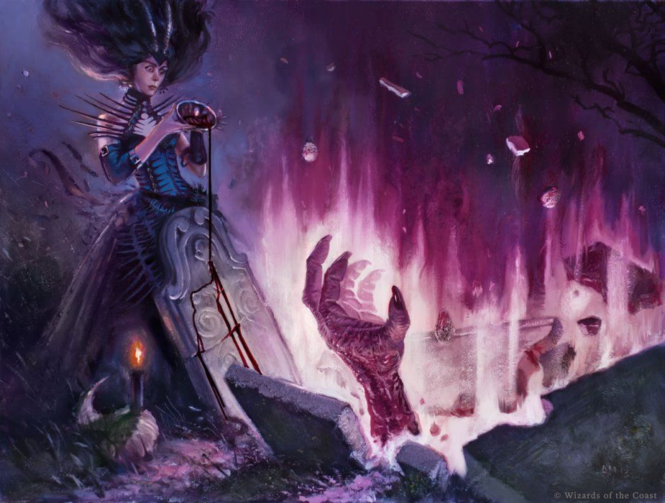 Unmake the Graves MtG Art by Aaron Miller