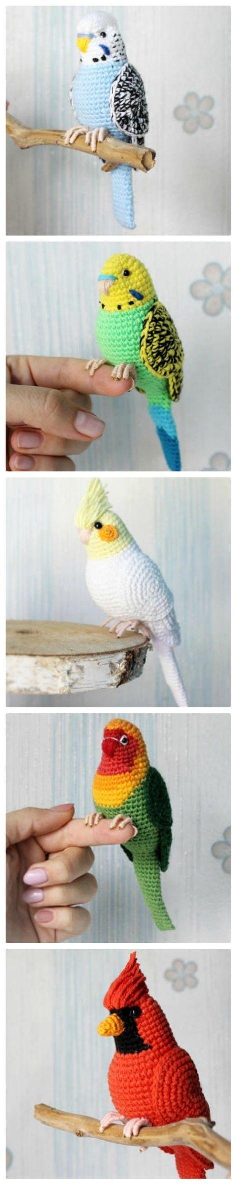Häkeln Sie Vogel Muster einfach DIY Video #crochettoys