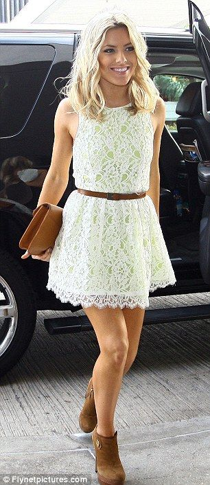 Lace Dress With Brown Boots