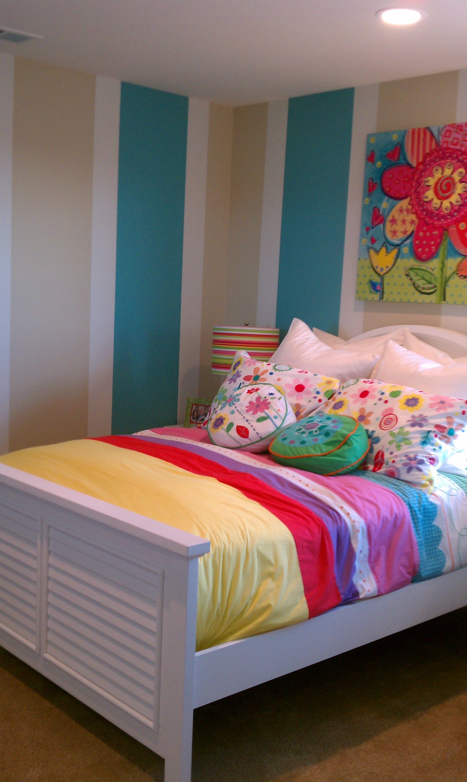 Vertical Stripes For Wall Boy Room Paint Kids Playroom Striped