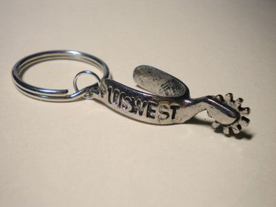 Vintage 1980 s US West western cowboy spur keychain. US West was a  Baby  Bell  - one of seven Bell companies formed after the breakup of ATT. ef0604b57