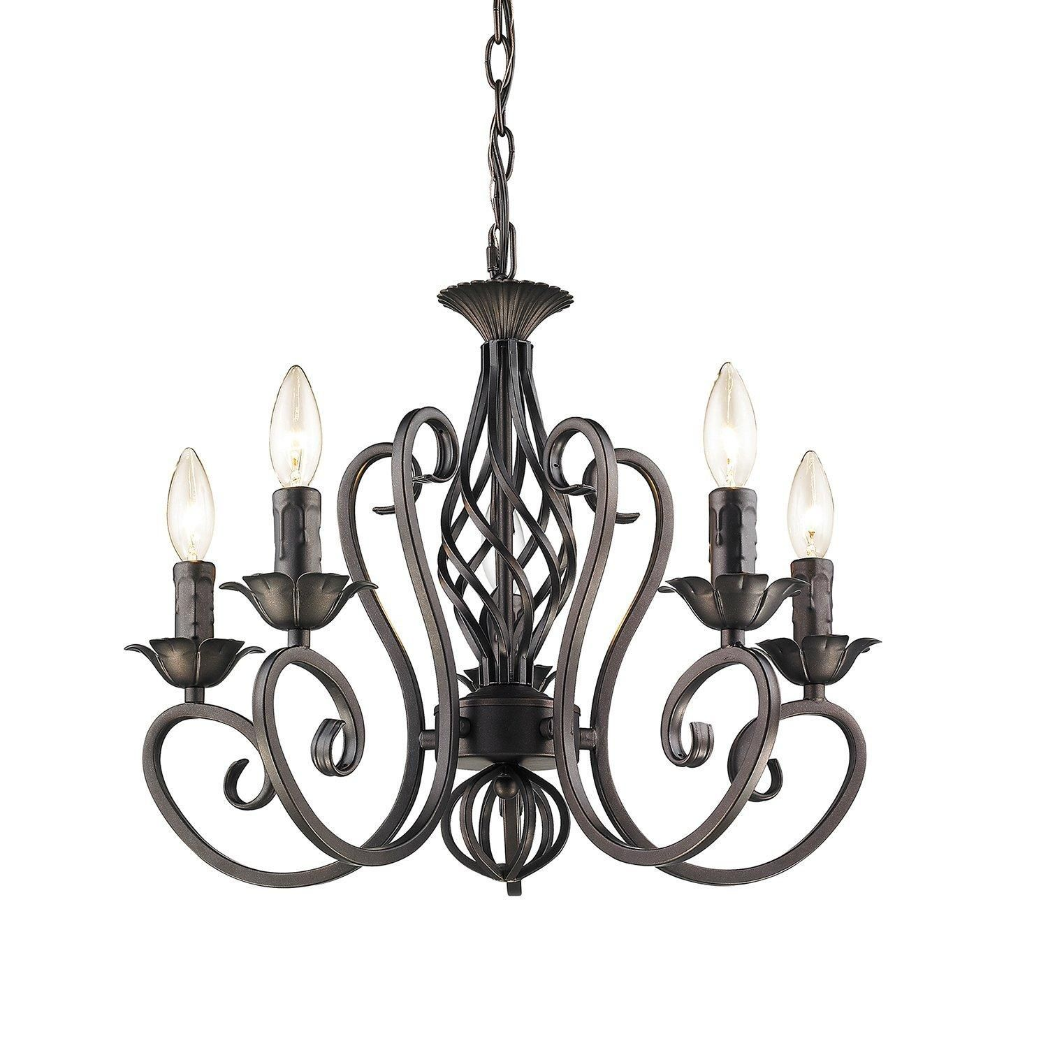 Antique Candelabra Chandeliers Wrought Iron 5 lights candle