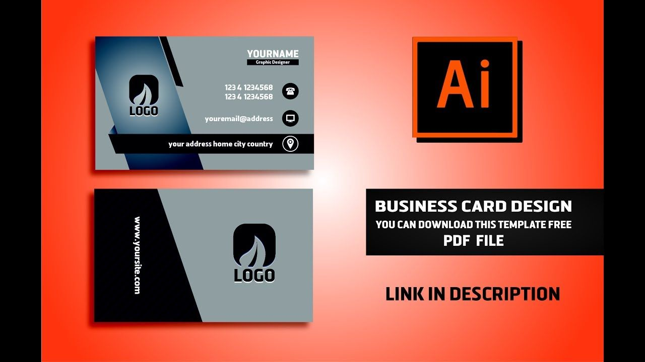 Business Card Design Vector File Free Download Illustrator Cc Tutorial 2017 In Visiting Download Business Card Business Card Creator Visiting Card Templates