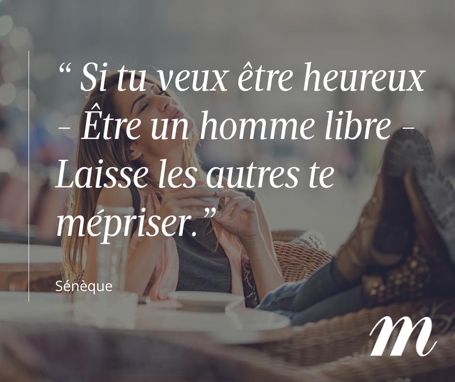 Citation Sénèque Philosophe Liberté Bonheur Confiance En