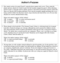 Author S Purpose Activities Worksheets Printables And Lesson