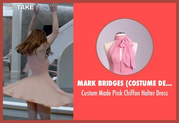 9cda452dcb29 Mark Bridges (Costume Designer) Custom Made Pink Chiffon Halter Dress as  seen on… | Fashion and beauty | Pinterest | Dresses, Chiffon and Costumes