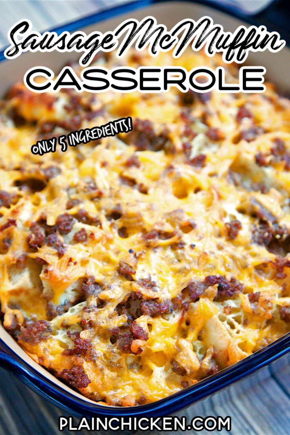 Sausage McMuffin Casserole - Only 5 Ingredients!