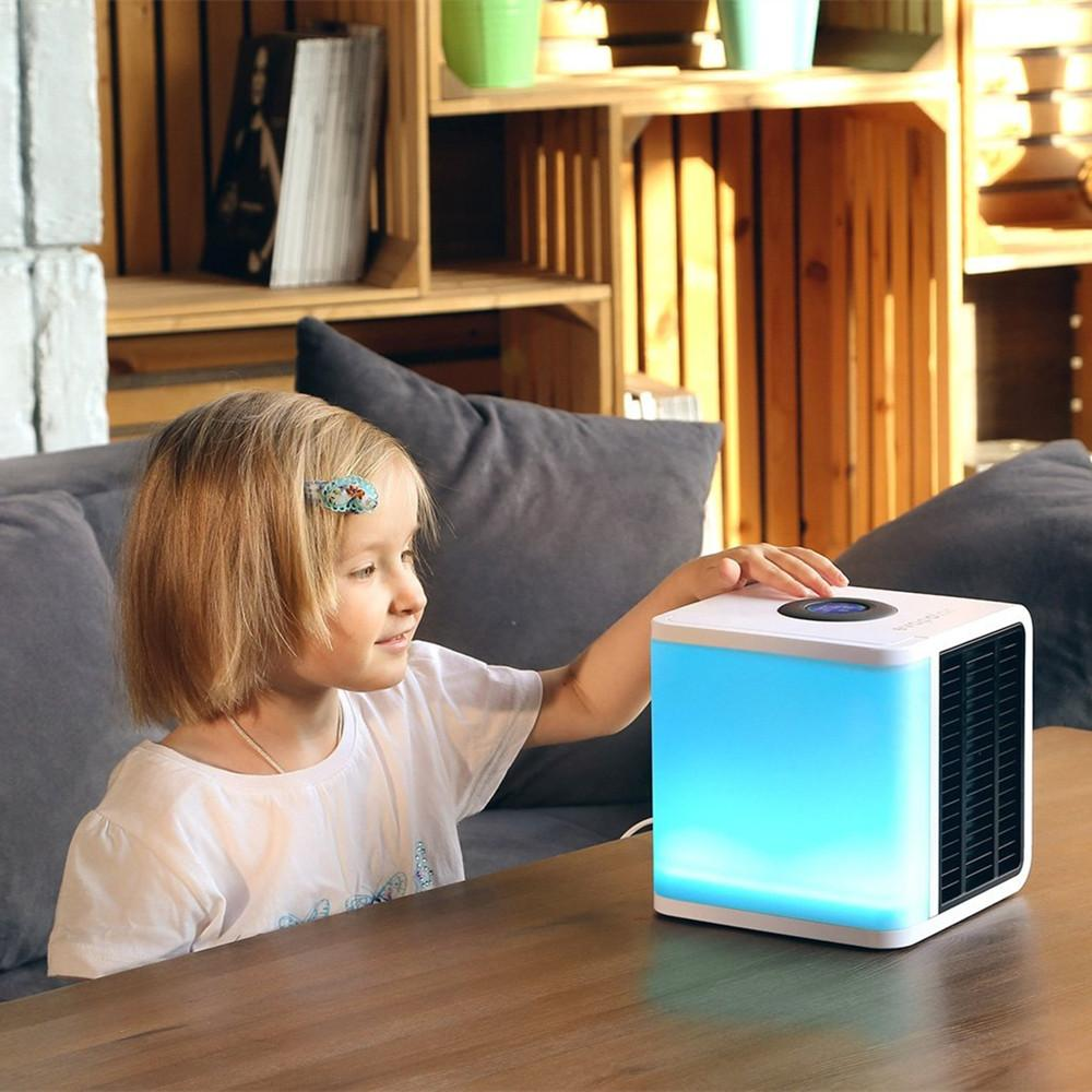 This stylish, portable mini air conditioner is easy to
