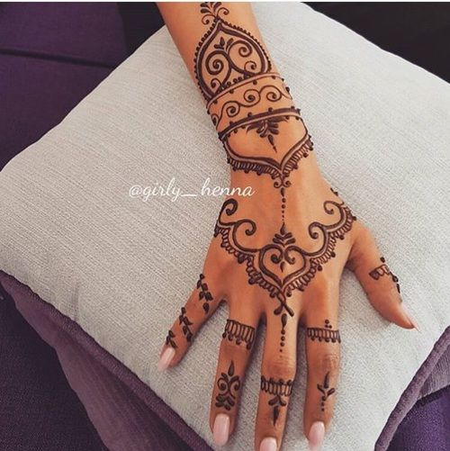 23 Tatuajes Para La Mano Que Te Puedes Hacer Con Henna Tattoo