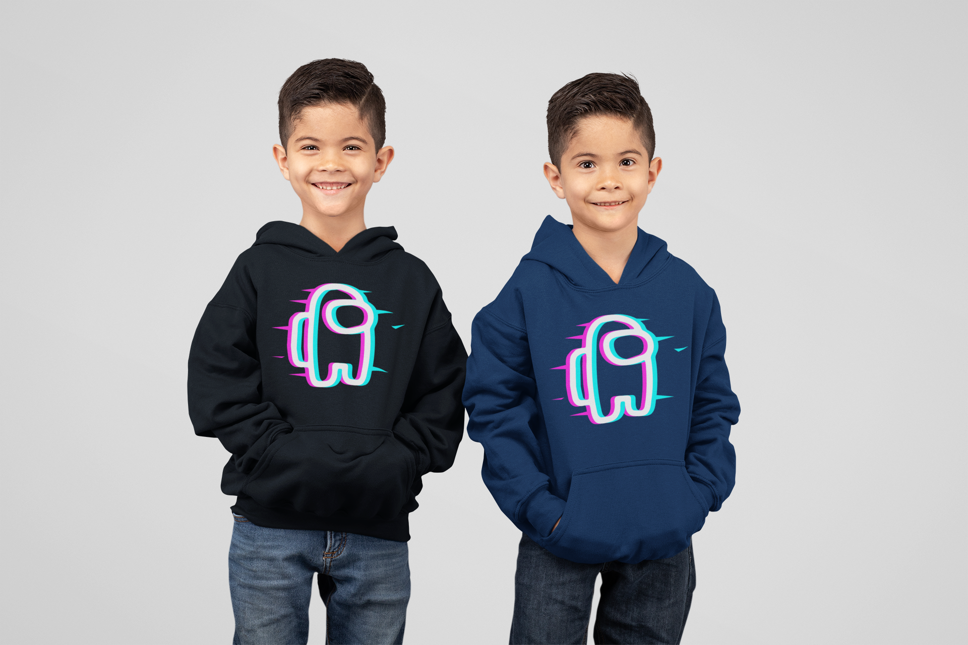 Glitch Impostor Among Us Hoodie Funny For Kids For Men Women Hoodies Sleeveless Tops Outfit Hoodie Shirt