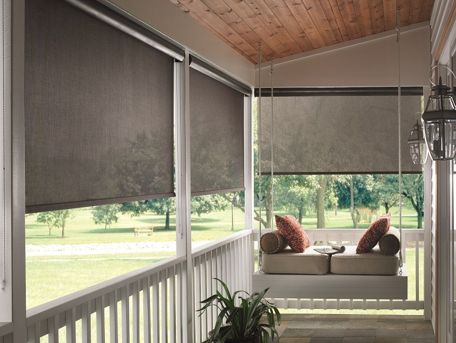 Inspiring Porch And Sun Room Window Covering Ideas Home Decor