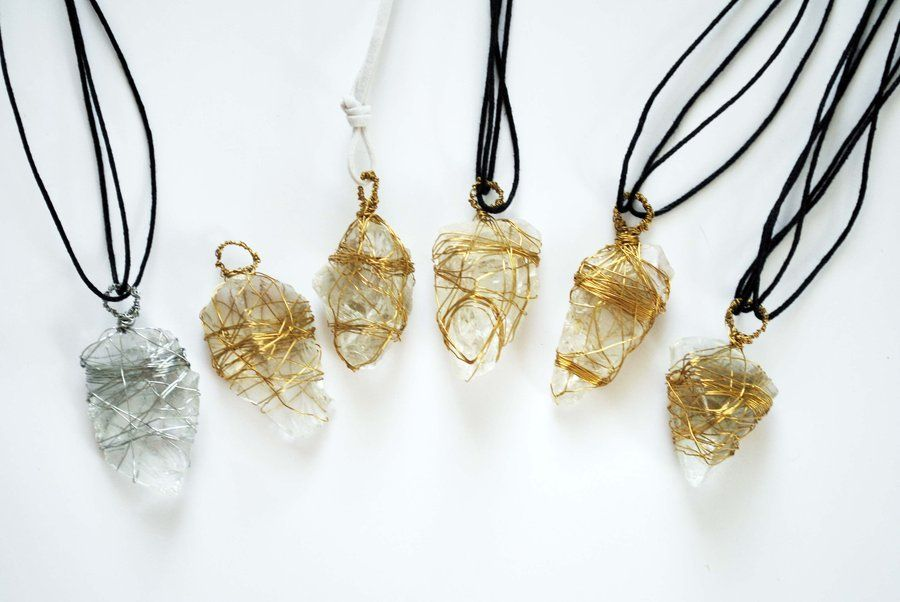 Wire wrapped crystal pendants jewlery pinterest wire wrapping wire wrapped crystal pendants mozeypictures Choice Image
