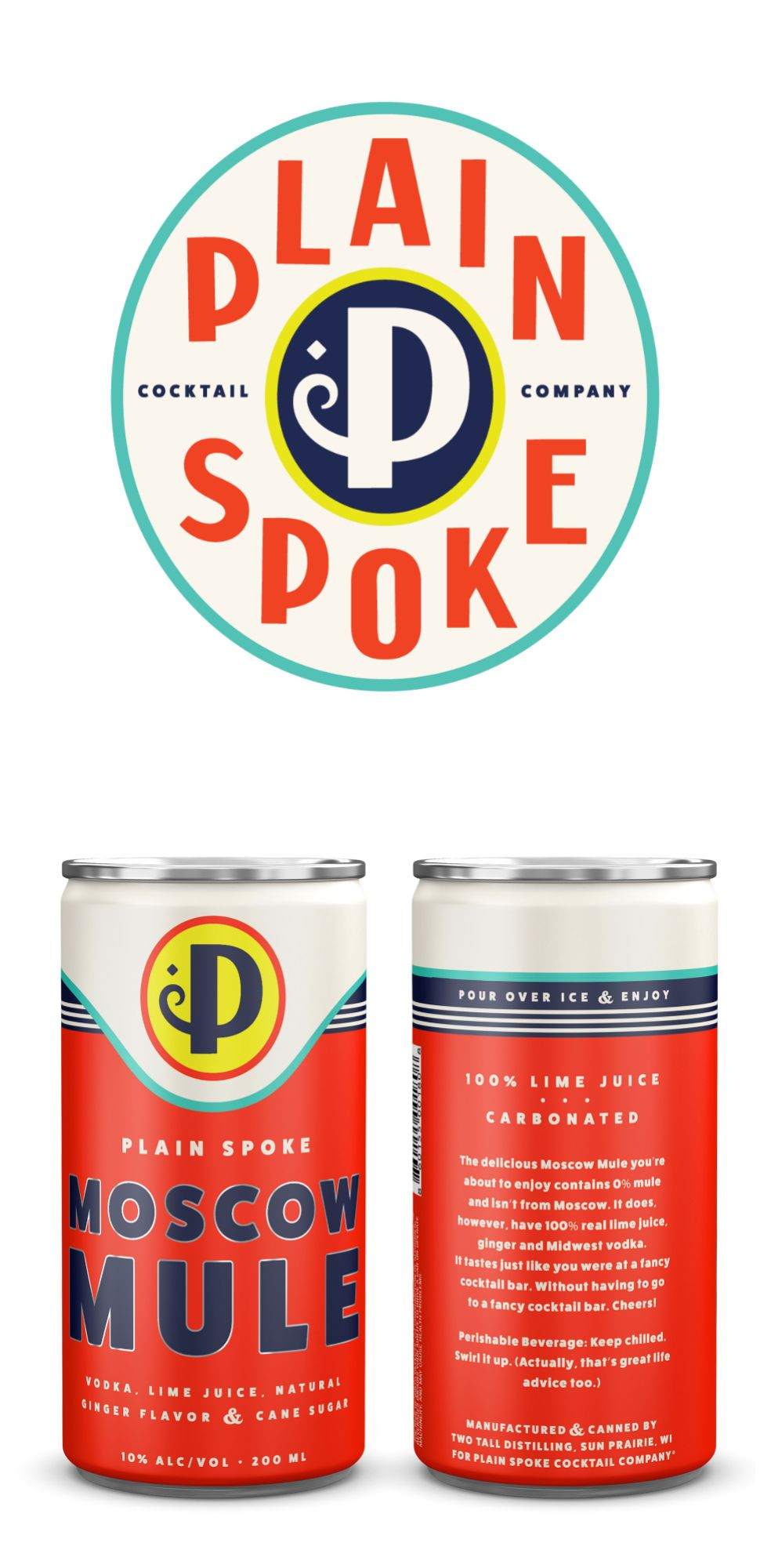Ready To Drink Cocktails In A Can Branding And Packaging With A Slight Vintage And Midwestern Aesthetic World Brand Design Cocktails In A Can Retro Packaging Drinks Packaging Design
