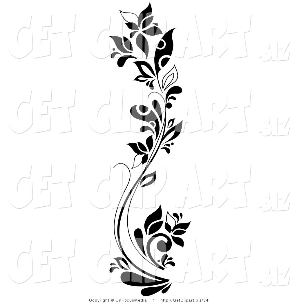 Clip art black and white clip art of a black and white curving clip art black and white clip art of a black and white curving tall flowering dhlflorist Image collections