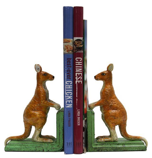Antique Look Kangaroo Bookends