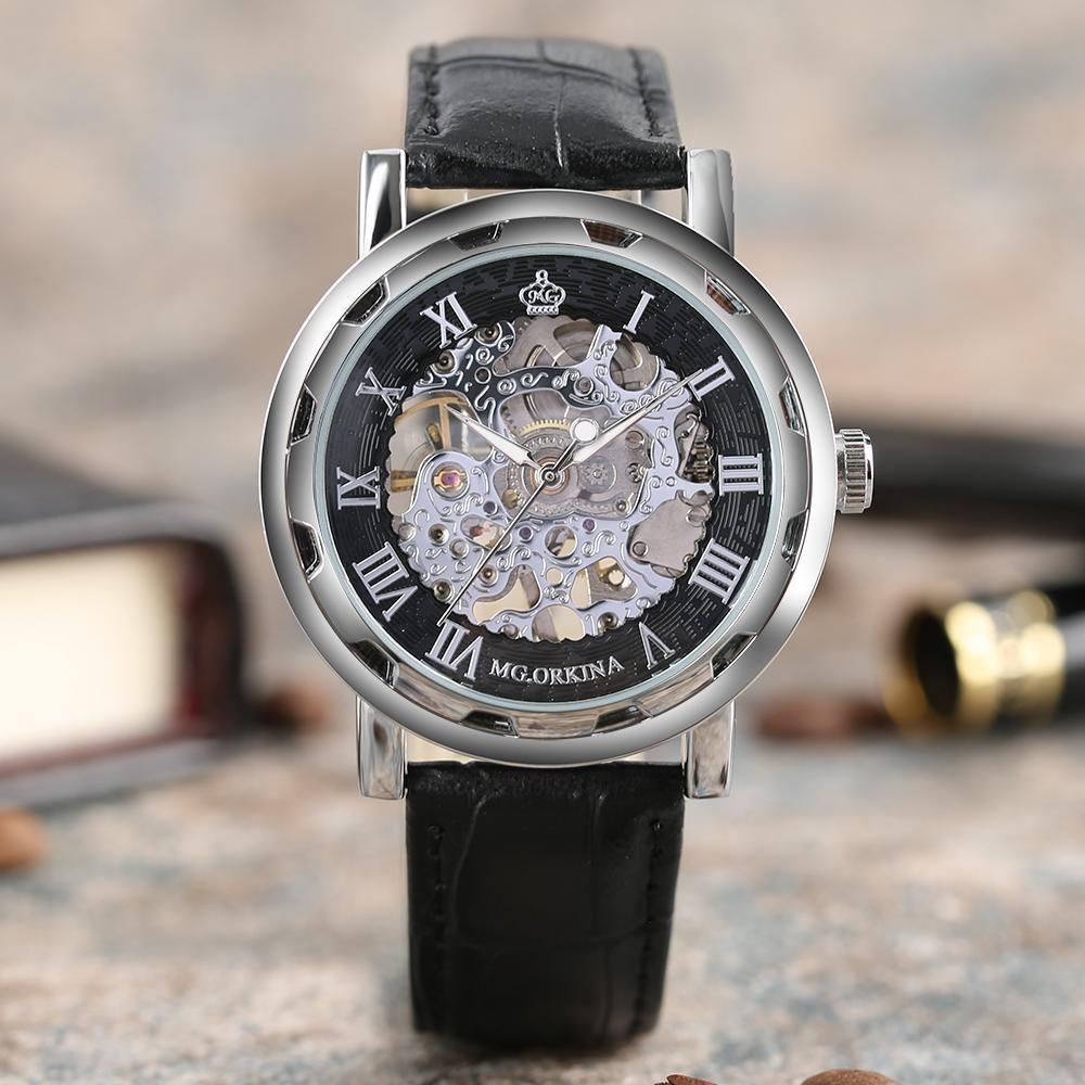 Skeleton Steampunk Mechanical Hand Wrist Watch