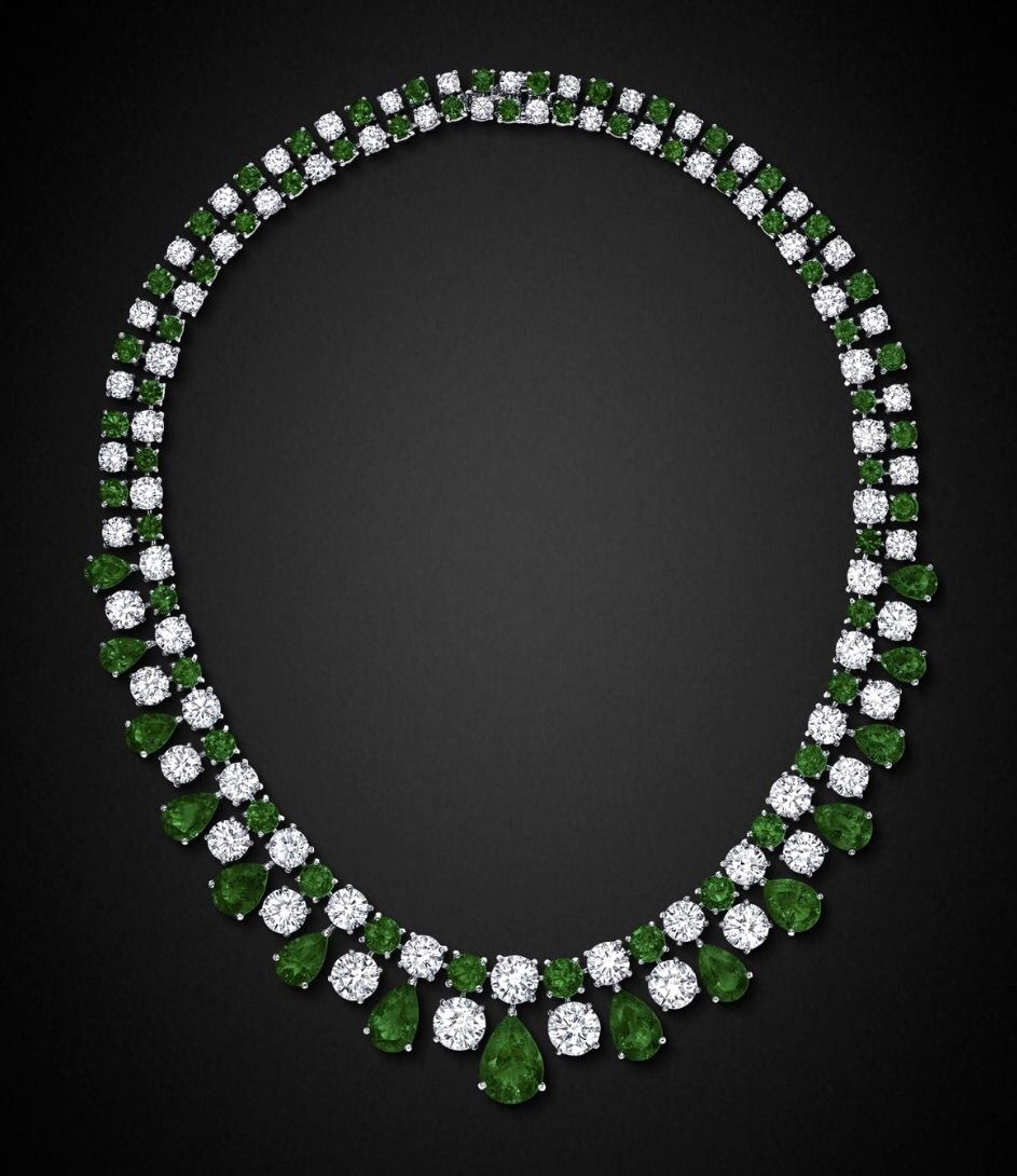 pinterest emerald graff emeralds pin diamond gems vvs necklace and