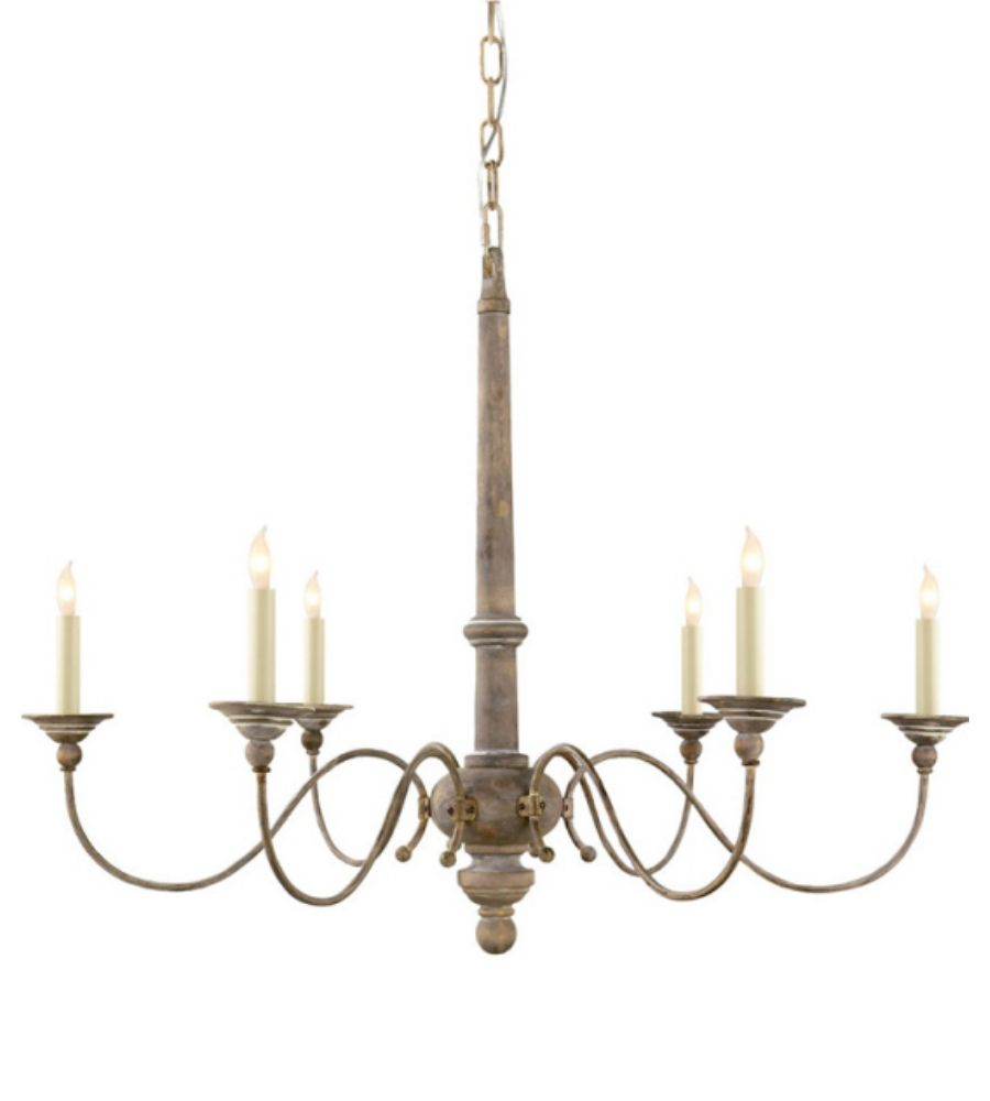 Visual Comfort S5211BW Studio VC Country Small Chandelier in Belgian White