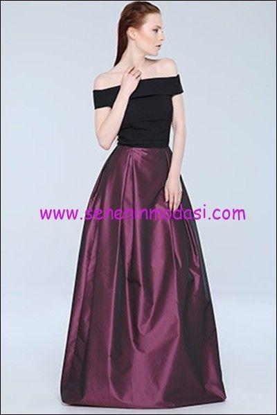 Tozlu Giyim Murdum Taftali Abiye Elbise The Dress Giyim Elbise