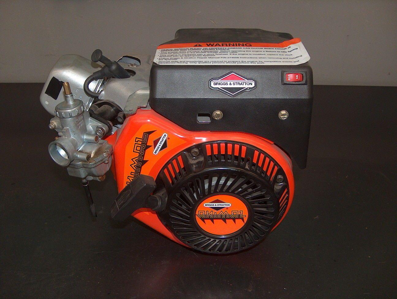 Briggs and Stratton Animal Engine Racing Go Kart Mini Bike OHV #kart ...