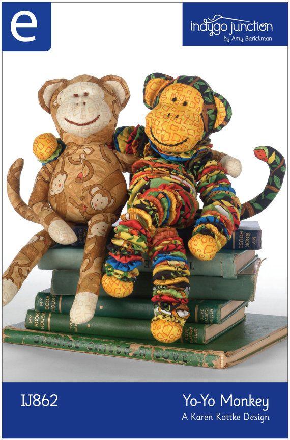 Yo-Yo Monkey ePattern | Juguetes | Pinterest | Stofftiere