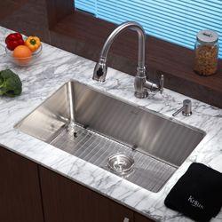 Kraus 30 Inch Undermount Single Bowl Steel Kitchen Sink Ping Great Deals On Sinks 220